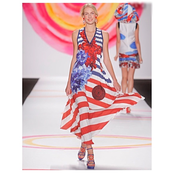a0fafaae770 Desigual Dresses   Skirts - DESIGUAL C. Lacroix striped maxi dress