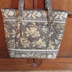 Retired Vera Bradley brown tan tote bag