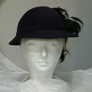 Mr John Modern Purple Feather Hat