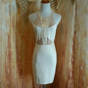 astr Dresses & Skirts - A super sexy gold and cream mini dress 2