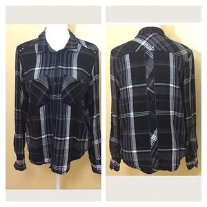 NWT Free People Flannel Top