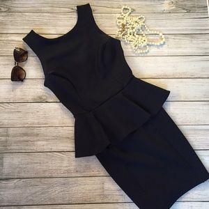 Topshop Dresses & Skirts - Topshop Ribbed Peplum Dress