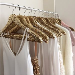 Gold Sequin Hanger(s)
