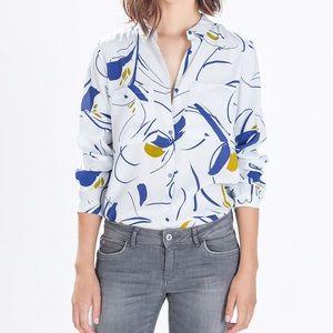 Zara Tops - Zara printed tie back blouse