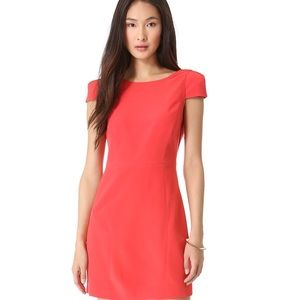 Tibi Cap sleeve open back red dress <3
