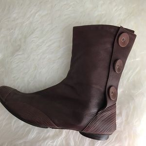 Anthropologie Shoes - Button Leather Brown Boots