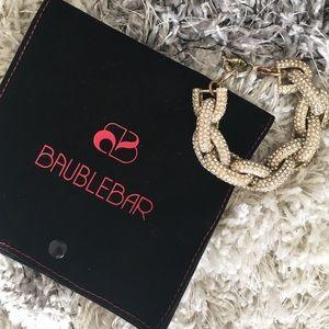 Baublebar Crystal chain link bracelet