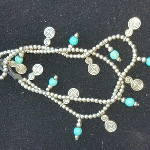 Jewelry - Silver turquoise anklet