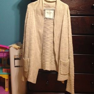 Cream colored knit cardigan