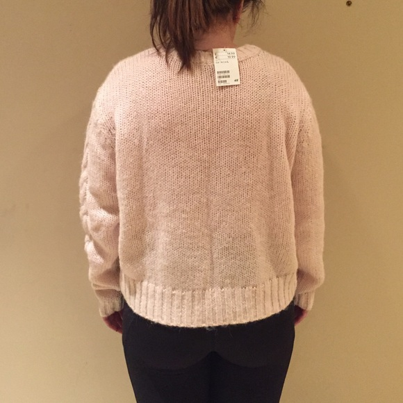 24% off H&M Sweaters - Brand New Light Pink Cable Knit Sweater ...