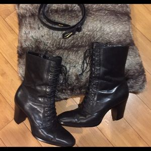Jacqueline Ferrera leather lace boots