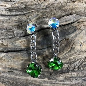 Jewelry - Handcrafted earrings with Swarovski crystal #47