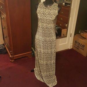 Sexy cheetah print maxi dress