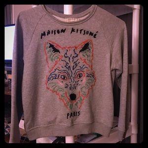MAISON KITSUNE Sweaters - Maison Kitsune Fox Sweater - Gray - Small
