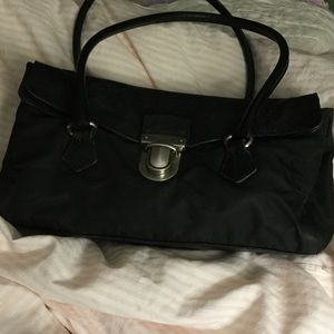 Prada leather and fabric bag