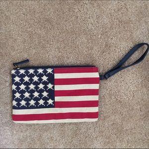 Urban Outfitters Handbags - American Flag Clutch Wristlet Purse