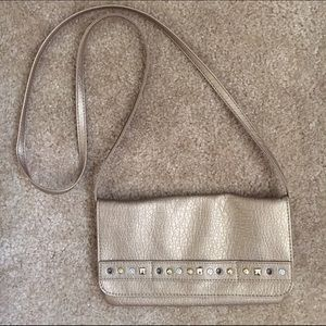 American Rag gold party crossbody purse