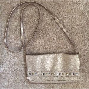American Rag Handbags - American Rag gold party crossbody purse