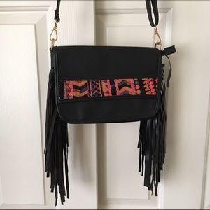 Fringe boho crossbody bag