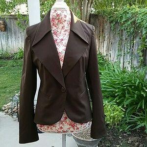 Lafayette 148 New York Jackets & Blazers - Lafayette 148 brown blazer with chic collar