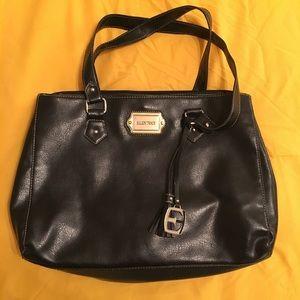 Ellen Tracy Handbags - Ellen Tracy Black Leather Satchel