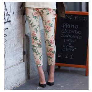 Current / Elliott floral ankle jeans