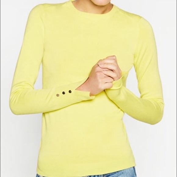 43% off Zara Sweaters - MWT yellow light long sleeve top ,golden ...