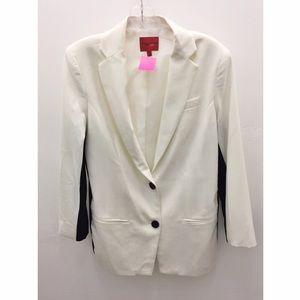 Narciso Rodriguez Jackets & Blazers - Narciso Rodriquez Black/Cream Colorblocked Blazer