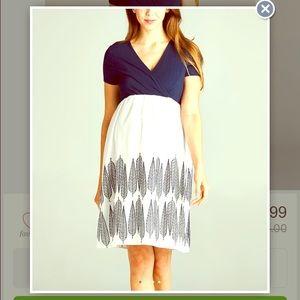 Hello MIZ Dresses & Skirts - Maternity NWOT navy and white Hello Miz dress