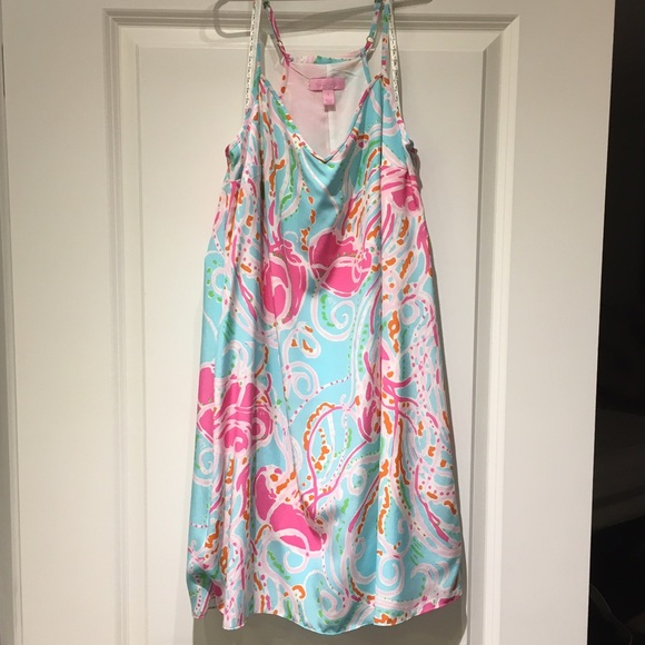 76ea17ff48b6 Lilly Pulitzer Dresses & Skirts - Lilly Pulitzer Dusk Strappy Slip Silk  Dress