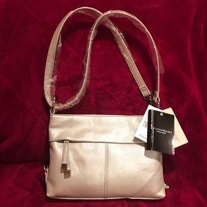Tignanello Leather Convertible Strap Bag.