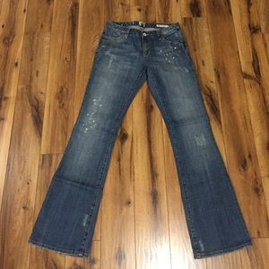 Salt Works distressed 'broadway bootcut' jeans.
