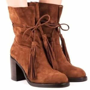 NWT 9.5 Jeffrey Campbell Tan La Forge Suede Boot
