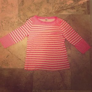JCrew hot pink striped top worn only once no flaws
