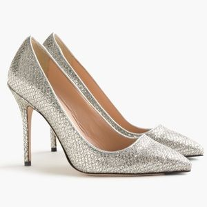 J.Crew Roxie Glitter Pumps