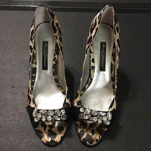 Beverly Feldman Shoes - Beverly Feldman LEOPARD, JEWELED, PUMPS Size 8