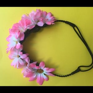 Accessories - PINK DAISY FLOWER CROWN