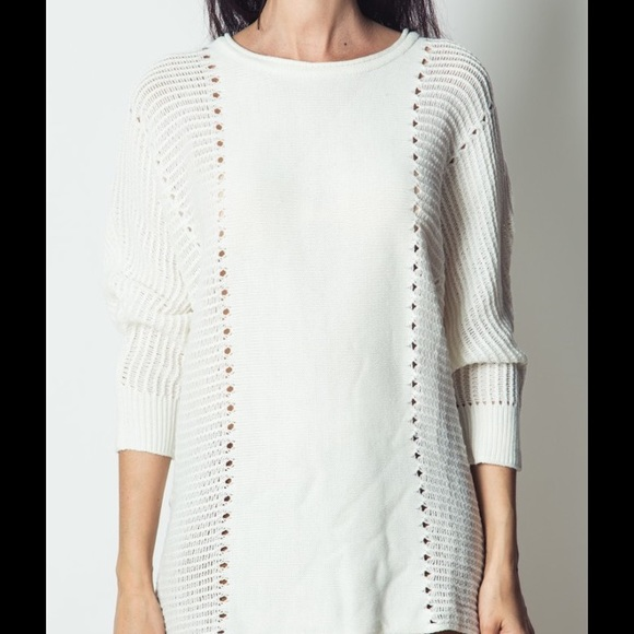 67% off Love Riche Sweaters - 🆕 Off White Tunic Sweater from Amy ...