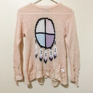 Wildfox Couture Other - Wildfox Dream Catcher Destroyed Sweater