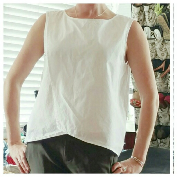 9f259986a4e20 kate spade Tops - Kate Spade Saturday White Cotton Sleeveless Top