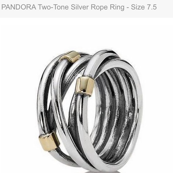 dbbe883d9 Pandora Jewelry   Retired Authentic Two Tone Ring   Poshmark