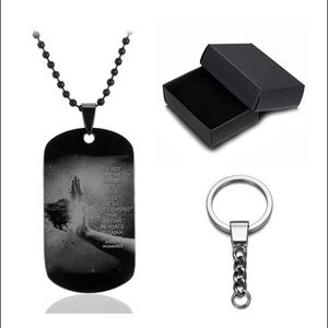 "J's Closet Jewelry - ""BEST DEFENSE""  Dog tag necklace set"