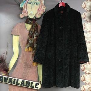 Gallery Jackets & Blazers - Gallery XL Black Swing Coat