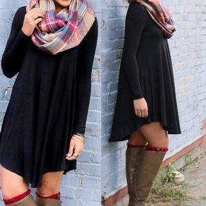 🍁Black Loose Flowy Dress Tunic🍁 @mckennam5