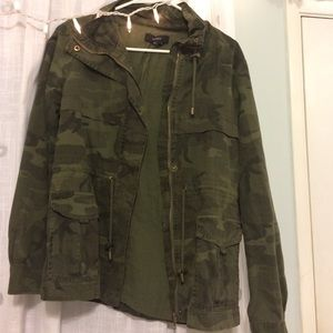 Forever 21 camo coat