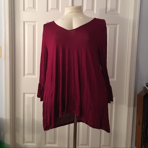 c1c9276b222a0b Beautiful plus size Burgundy blouse