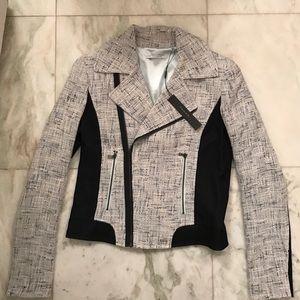 T Tahari Jackets & Blazers - NWT T Tahari Crystal Zip Jacket Blazer Blue Tweed