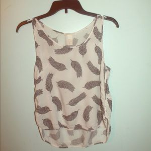 Feather printed H&m tank top