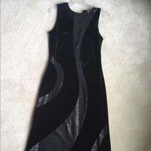 Steilmann Dresses & Skirts - Black Velvet & Sequin Evening Dress by Steilmann
