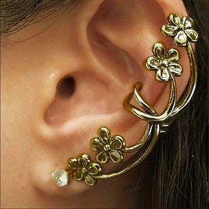 Antique Copper Style Boho Flower Left Ear Cuff